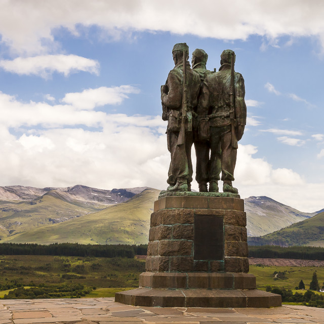 """The Commando Memorial at Spean Bridge"" stock image"