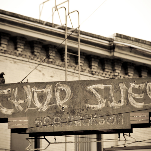 """Chop Suey, Chinatown, San Francisco"" stock image"