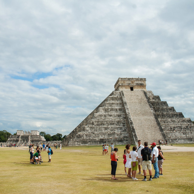 """Mexico chichén itzá"" stock image"
