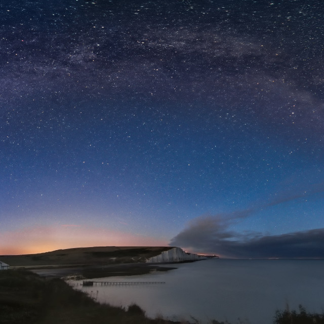 """Milky Way over Seven Sisters"" stock image"