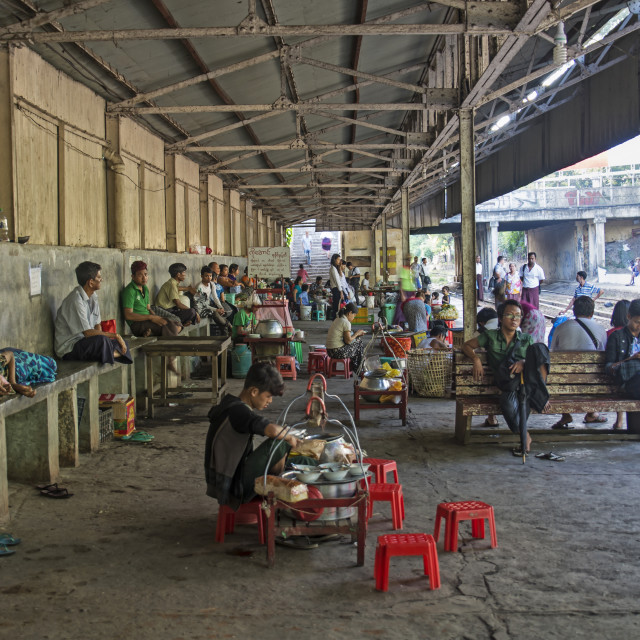 """YANGON TRAIN STATION"" stock image"