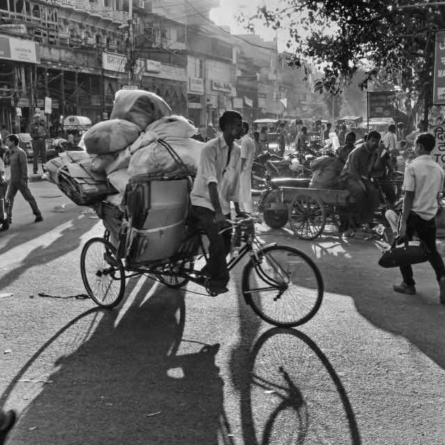 """DELHI STREET LIFE"" stock image"