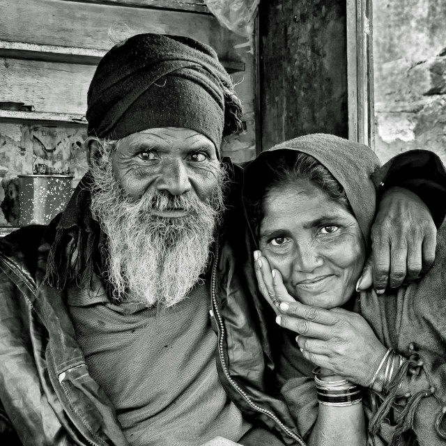 """BIKANER COUPLE"" stock image"