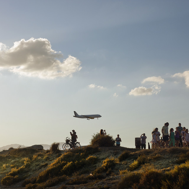 """Airplane spotting"" stock image"