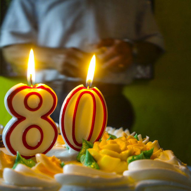 """80 years young"" stock image"
