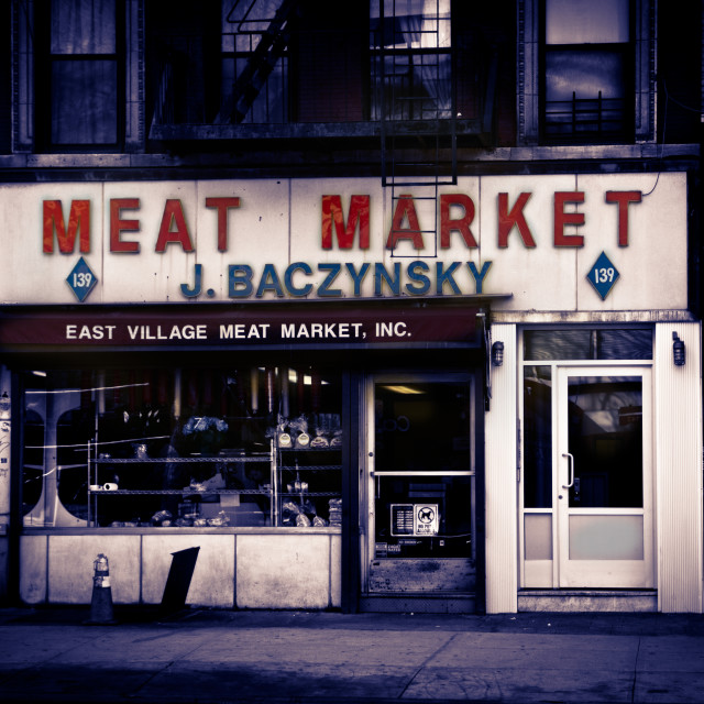 """Meat Market"" stock image"