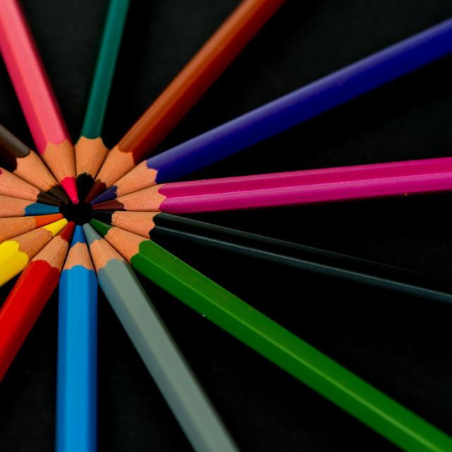 """Pencil circle"" stock image"