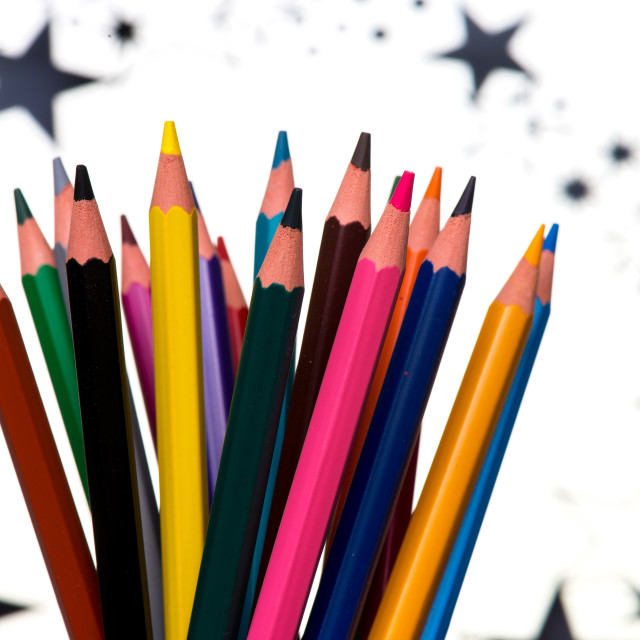 """Pencils with stars"" stock image"