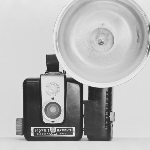 """""""Vintage Kodak Brownie Hawkeye Camera"""" stock image"""