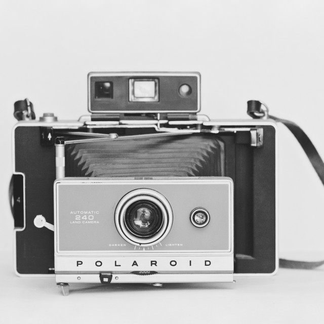 """Vintage Polaroid Land Camera"" stock image"