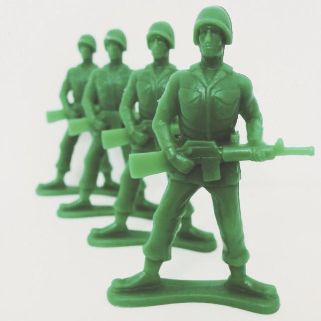 """Army Men toys"" stock image"