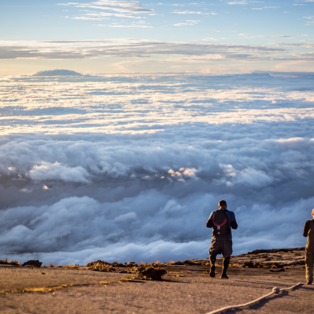 """Top of Kinabalu Mountain"" stock image"