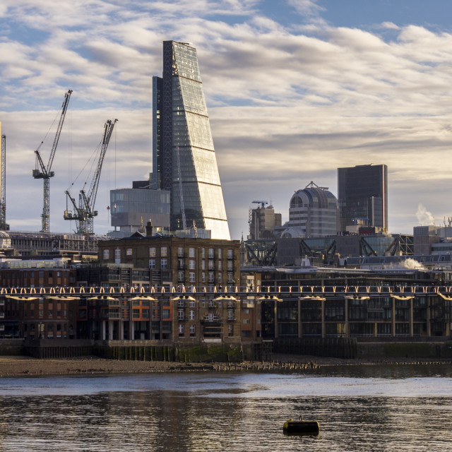 """London City Skyline from South of the River Thames, London, Britain"" stock image"