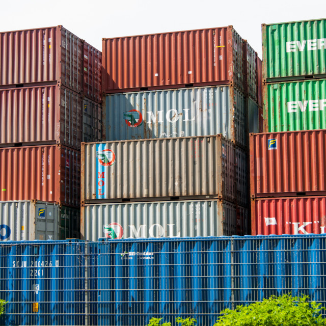 """CONTAINER V"" stock image"