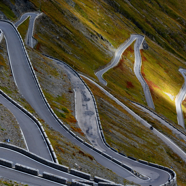"""Stelvio Pass"" stock image"