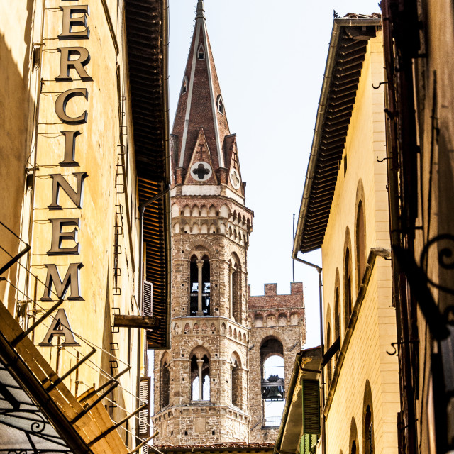 """Street of Florence"" stock image"