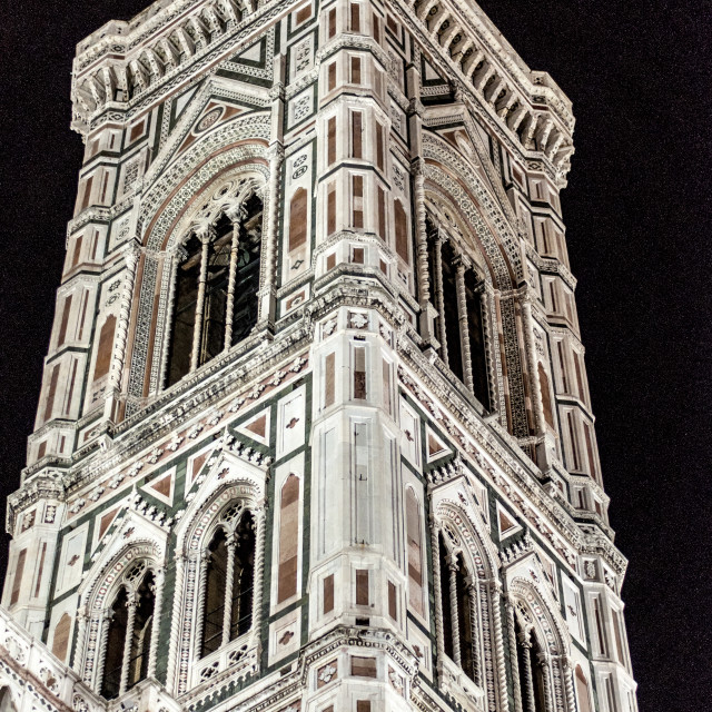 """Campanile di Giotto by Night"" stock image"