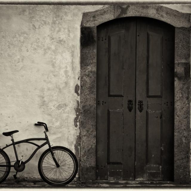 """Bike of the fisherman"" stock image"