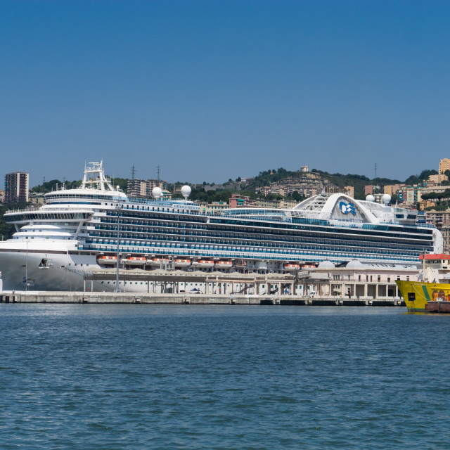 """Emerald Princess in Genoa"" stock image"