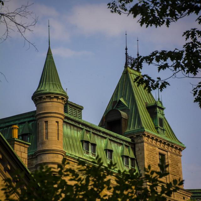 """Castle Quebec"" stock image"