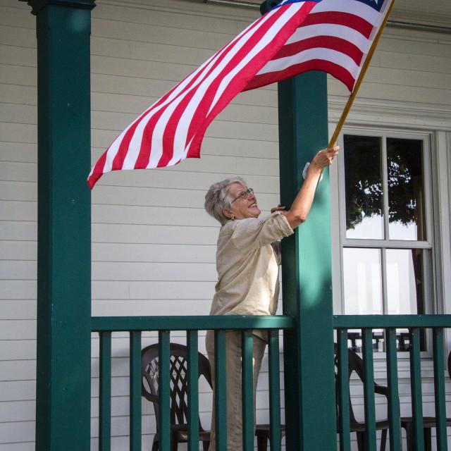 """Flag time! USA, second"" stock image"