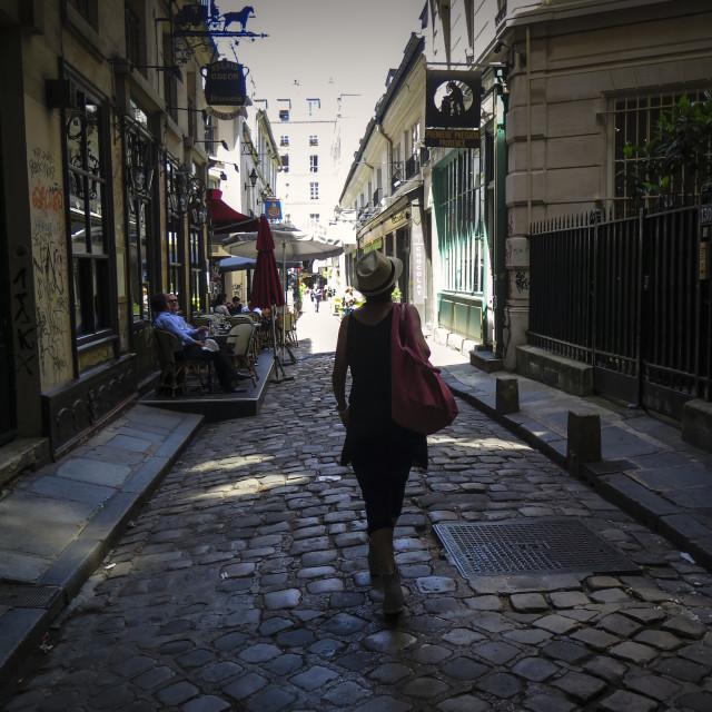 """Strolling in Paris"" stock image"