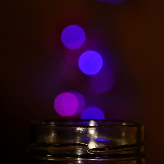 """Jar of Lights"" stock image"