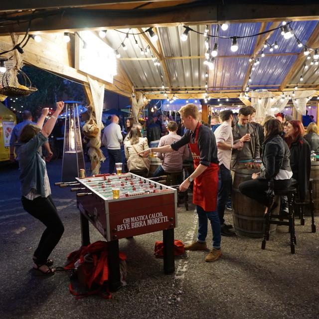 """Night out at Moretti UK Gran Tour"" stock image"