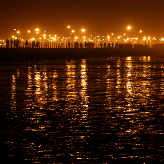 """Across the Ganga, Mahakumbh, Allahabad"" stock image"