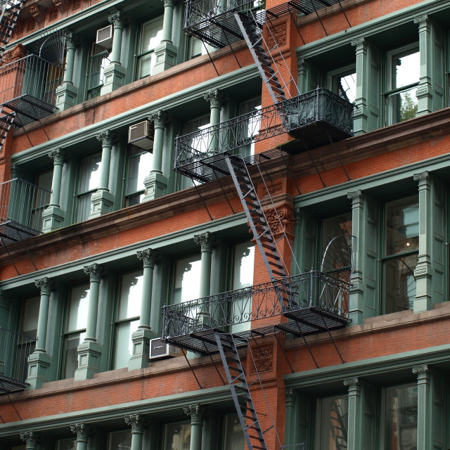 """Spring Street New York Fire Escape"" stock image"