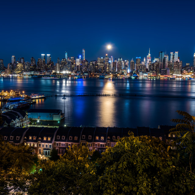 """Blue Moon NYC"" stock image"