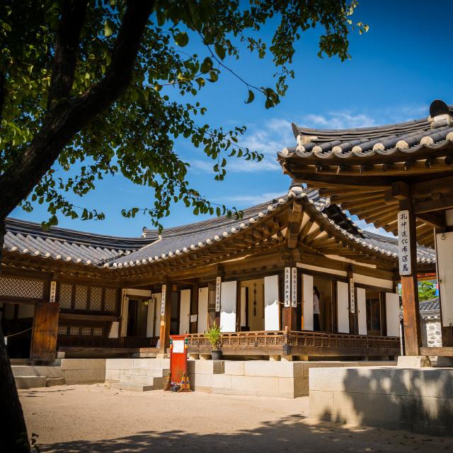 """Hanok Village Museum - Seoul"" stock image"