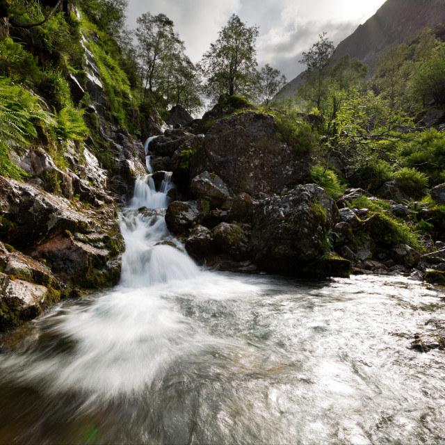 """""""Lost Valley Waterfall"""" stock image"""