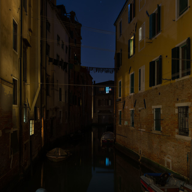 """Venice night"" stock image"