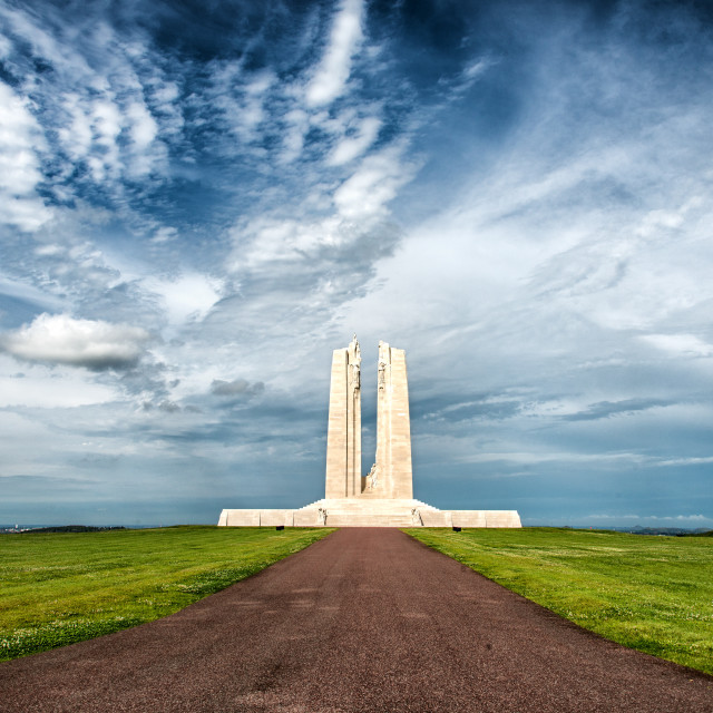 """Canadian National Vimy Memorial on the Vimy Ridge 1"" stock image"