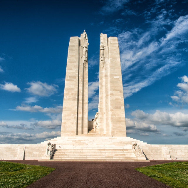 """Canadian National Vimy Memorial on the Vimy Ridge 2"" stock image"