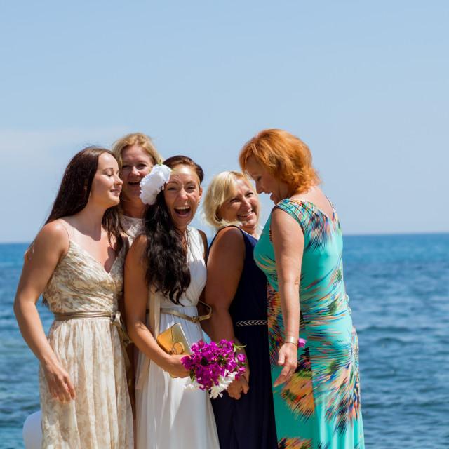 """Women at the wedding"" stock image"