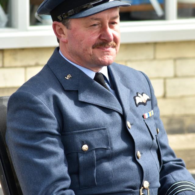 """RAF officer"" stock image"