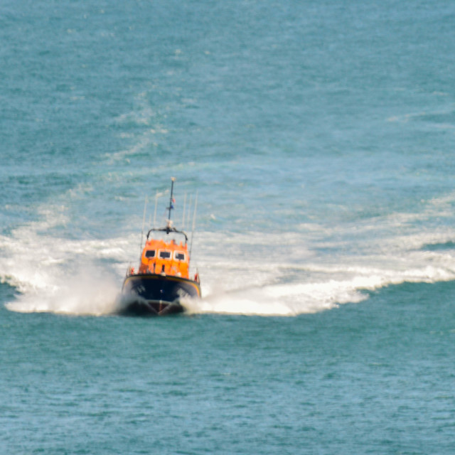 """Lifeboats three"" stock image"