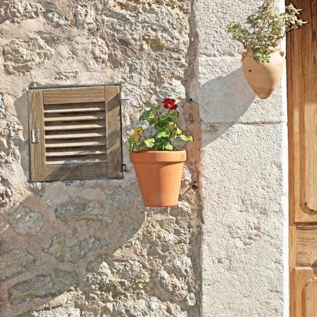 """Flower pot decorations"" stock image"