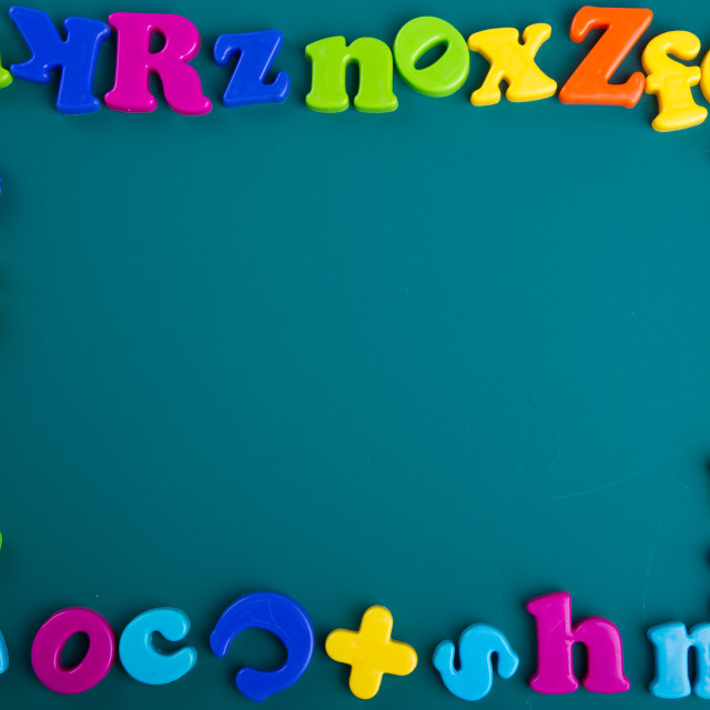 """Colorful Alphabet"" stock image"