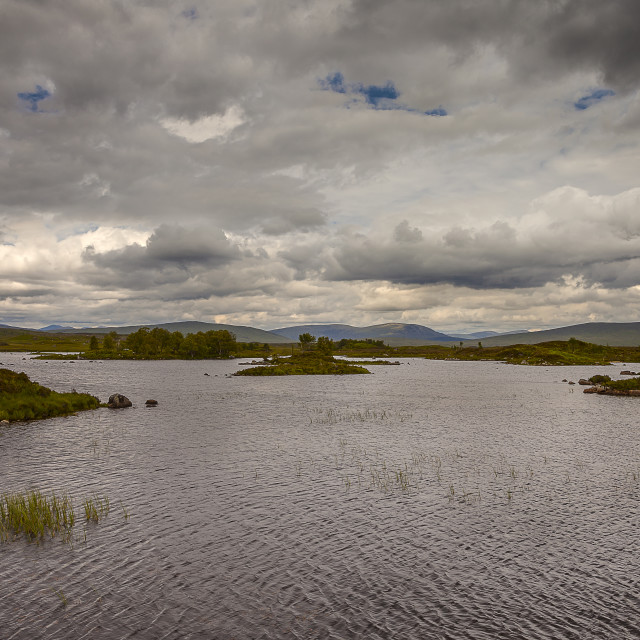 """View over Rannoch Moor"" stock image"