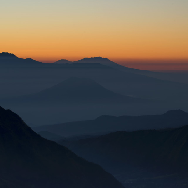 """First light mountains"" stock image"