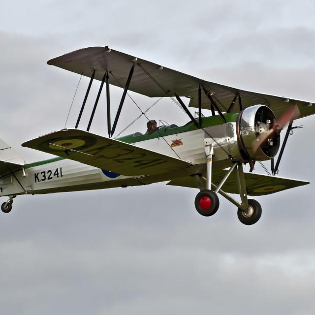 """Avro Tutor Biplane 1933"" stock image"