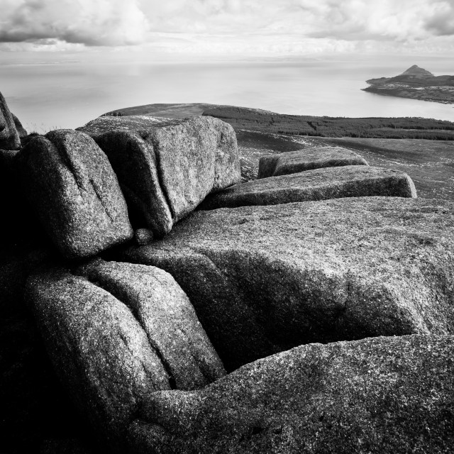 """Goat Fell Rocks"" stock image"