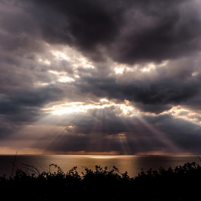 """""""Sunburst Sky"""" stock image"""