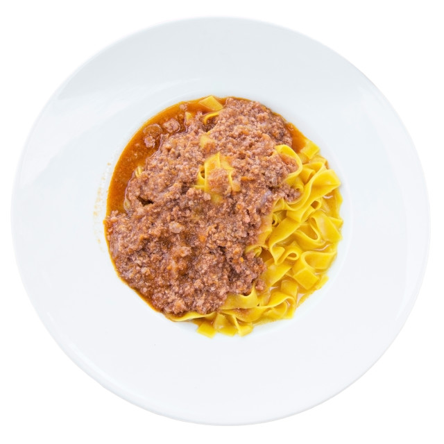 """Tagliatelle and meat sauce dinner"" stock image"