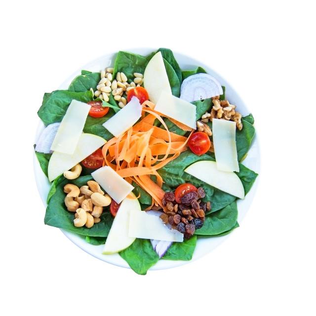 """Fresh spinach salad"" stock image"