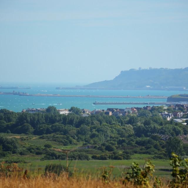 """A Misty Weymouth Bay"" stock image"