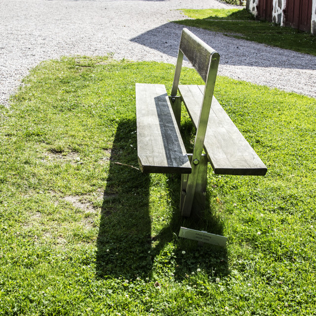 """A schizophrenic bench"" stock image"